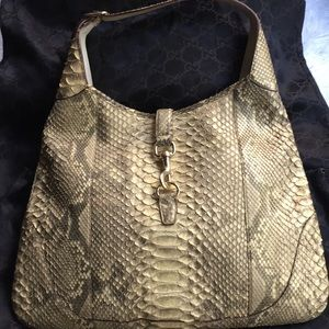Gucci Jackie O LG Golden Cream Metallic Bag